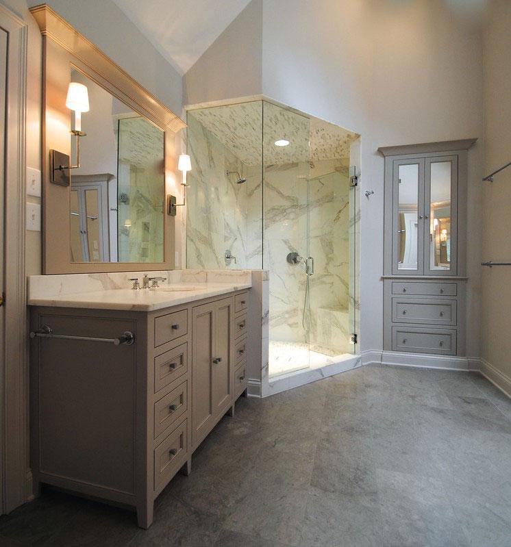 Martin Gray Master Bathroom